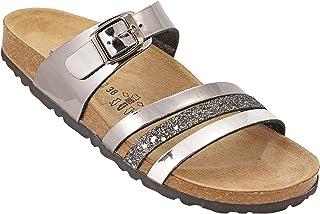 012-291 Biochic Ladies Sandals Metallic Grey