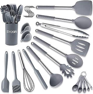 Ailler Ustensiles de Cuisine outils de cuisine en silicone r/ésistant /à la chaleur antiadh/ésif de cuisson Cuisine de cuisson 10/pi/èces 14 pcs schwarz 14 pcs