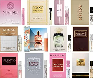 Floral Perfume Sampler Lot x 12 Sample Vials - High End Fragrance Samples for Women