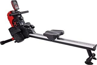 Stamina   X Magnetic Rower, Black/Red