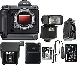 Fujifilm GFX 100 Medium Format Mirrorless Camera Body - Bundle EVF-TL1 EVF Tilt Adapter, 256GB SDXC UHS-1 U3 Card, Fuji NP...