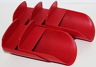 Tupperware Rocker Scoops Set of 5 Sugar Flour Kitchen Gadget NEW Red