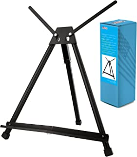 US Art Supply Table Top Aluminum Tri-Pod Artist & Display Easel (Large - Double Arm)