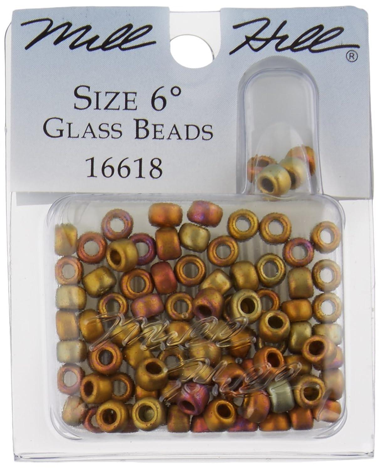 Mill Hill Glass Beads Size 6/0 4mm 5.2 Grams/Pkg-Mayan Gold