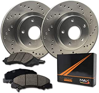 Max Brakes Rear Performance Brake Kit [ Premium Cross Drilled Rotors + Ceramic Pads ] KT088822 Fits: 1991-1995 Acura Legend | 1996-1998 RL | 1995-1998 Honda Odyssey