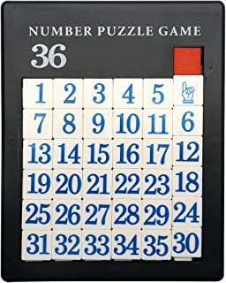 GARASANI Number Slide Puzzle Brain Teaser IQ Game (35 Number)