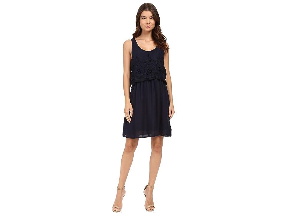 ONLY Minja Sleeveless Short Woven Dress (Night Sky) Women