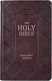 Holy Bible: Dark Brown Pattern KJV Bible Giant Print