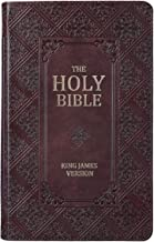 KJV Holy Bible, Giant Print Standard Bible, Dark Brown Faux Leather Bible w/Thumb Index and Ribbon Marker, Red Letter Edition, King James Version