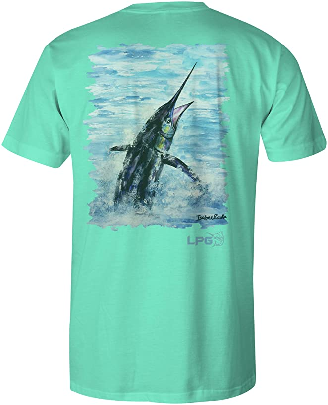 LPG Apparel Co. Pacific Fly Marlin Unisex Cotton Fishing Themed Short Sleeve T-Shirt