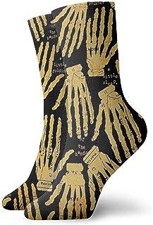 Calcetines casuales Calcetines tobilleros manos viejas esqueléticas Calcetines de compresión de vestido corto para mujeres Hombres