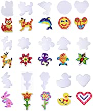 Fashion Road 15Pcs Fuse Beads Pegboards with 15 Pcs Colorful Cards, Plastic Animal Shape Template Bead Board for Kids Craft Bead