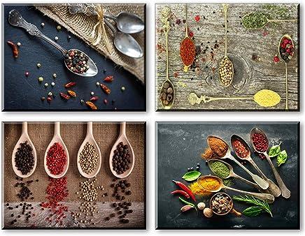 Charmant Piy Impression Spice Et Cuillère Toile Wall Art Peinture Étanche Prête à  Poser Imprimer Sur Bois