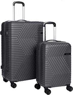 American Tourister Luggage Trolley Bags 2 Pieces, Black, Do808009-Grey, Unisex