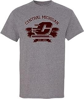 Central Michigan University Grey Vintage Adult T-Shirt