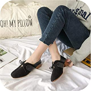 2019 New peas Shoes Female Korean Version of The Single Shoes Flat Round Head Scoop Shoes College British Wind Women's Shoes
