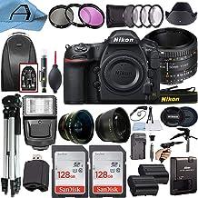 Nikon D850 DSLR Camera 45.7MP CMOS Sensor with AF FX NIKKOR 50mm f/1.8D Lens, 2 Pack SanDisk 128GB Memory Card, Backpack, ...