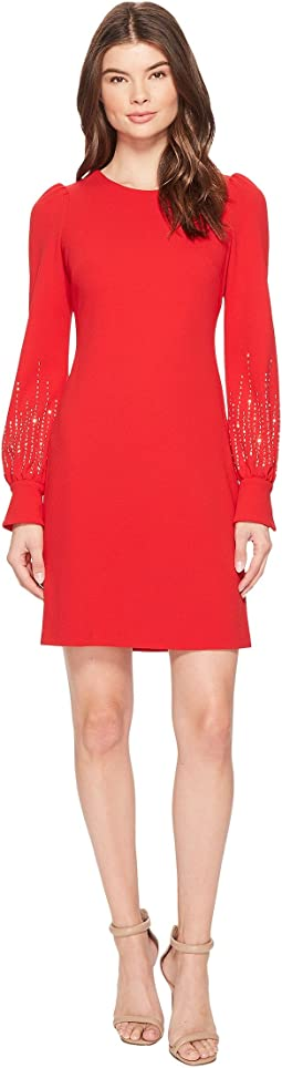 Calvin Klein - Embellished Bubble Sleeve Sheath Dress CD7C11EL