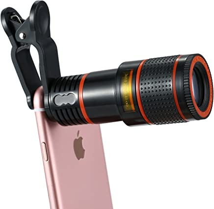 Apexel Cell Phone Camera Lens Kit, 12X Optical Zoom Universal HD Focus Telescope with Universal