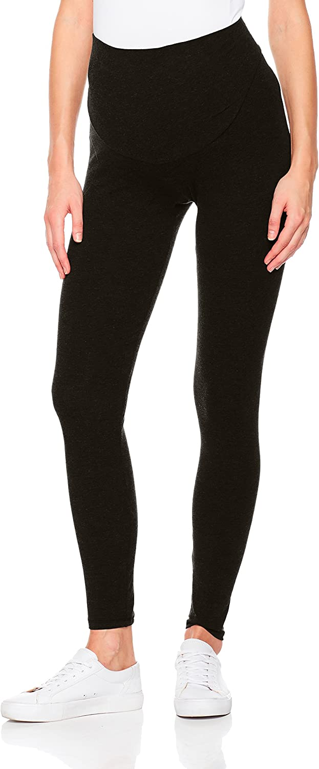 Abie Women's Maternity Stretch Over The Belly Support Jersey Legging Yoga Pant
