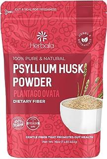 Psyllium Husk Powder, 1 lb. Soluble Fiber Powder, Psyllium Powder, Psyllium Husk Fiber, Psyllium Fiber Powder Unflavored, ...
