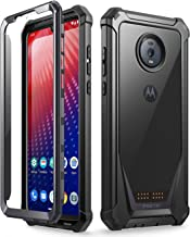 Moto Z4 Rugged Clear Case, Poetic Full-Body Hybrid Shockproof Bumper Cover,..