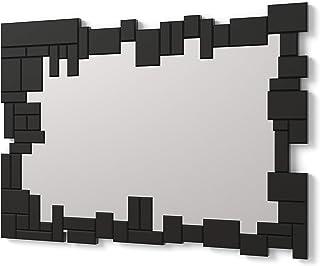 DekoArte E065 - Espejos Decorativos Modernos De Pared | Espejos Decoración para Tu Salón Dormitorio, Entrada, Recibidor | Espejos Sofisticados Grandes Rectangular Color Negro| 1 Pieza 100 x 70 cm
