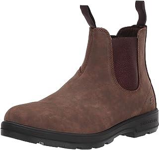 Skechers Men's Molton- GAVERO Chelsea Boot, Brown, 12