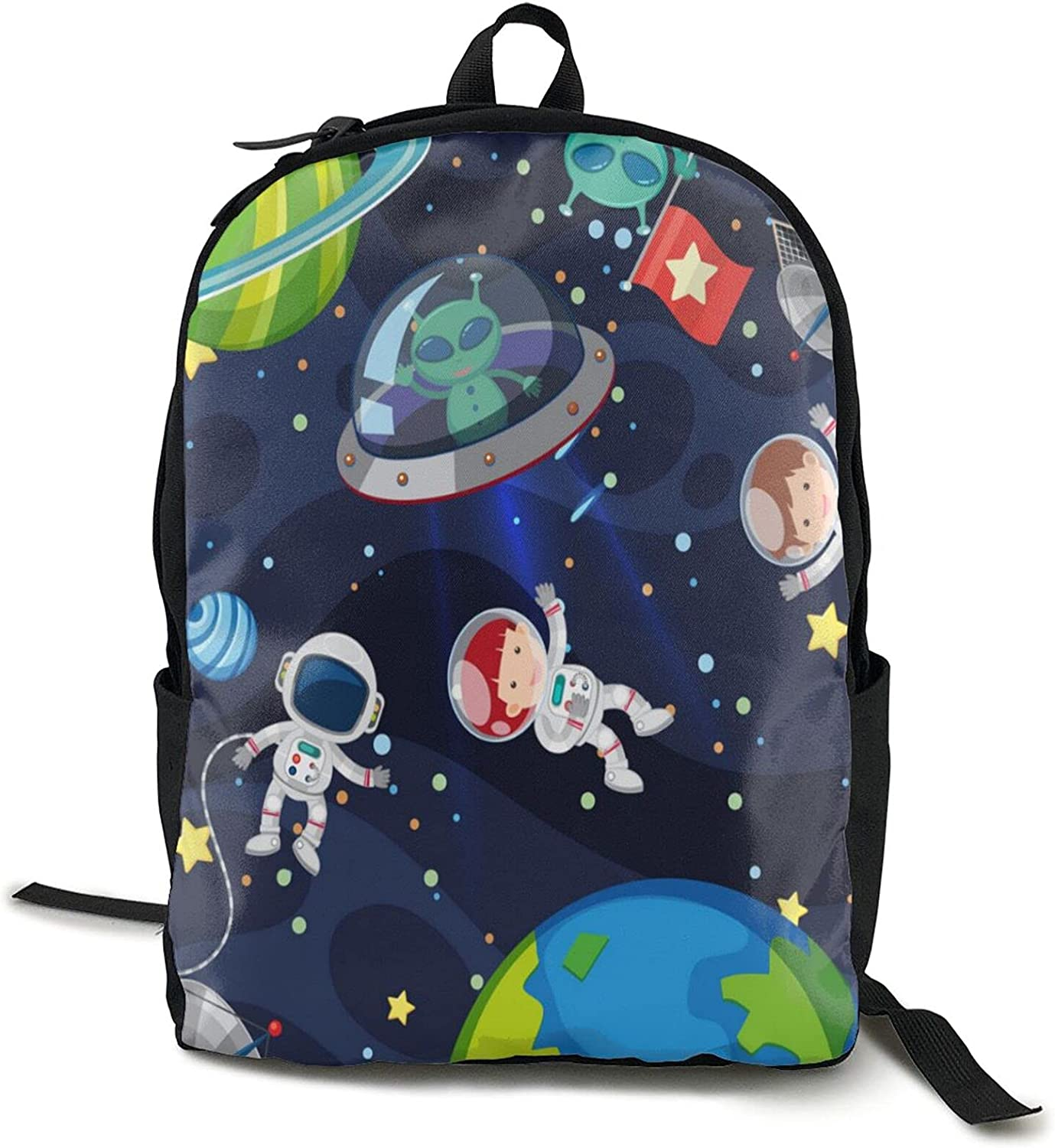 Year-end annual Over item handling ☆ account Canvas Backpack College School Daypack Wit Scene Casual