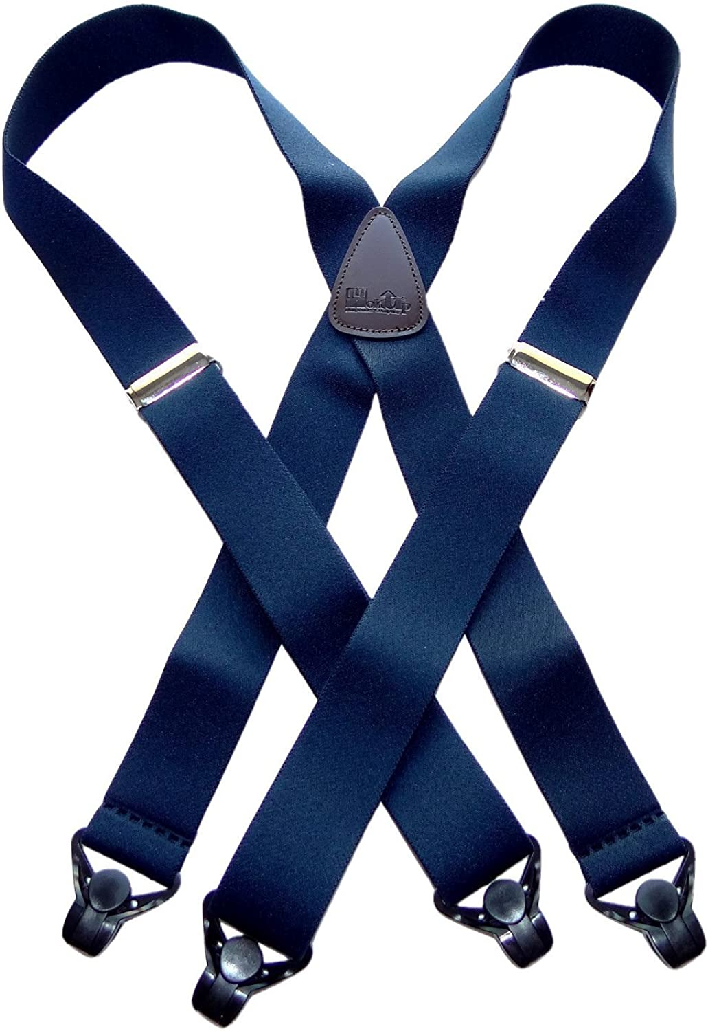 Holdup Classic Series Basic Blue XL X-back Suspenders with patented black Gripper Clasp