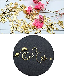 Kapmore Nail Art Stud Nail Sequins DIY Assorted Hollow Moon Star Manicure Glitter Alloy Nail Art Decoration