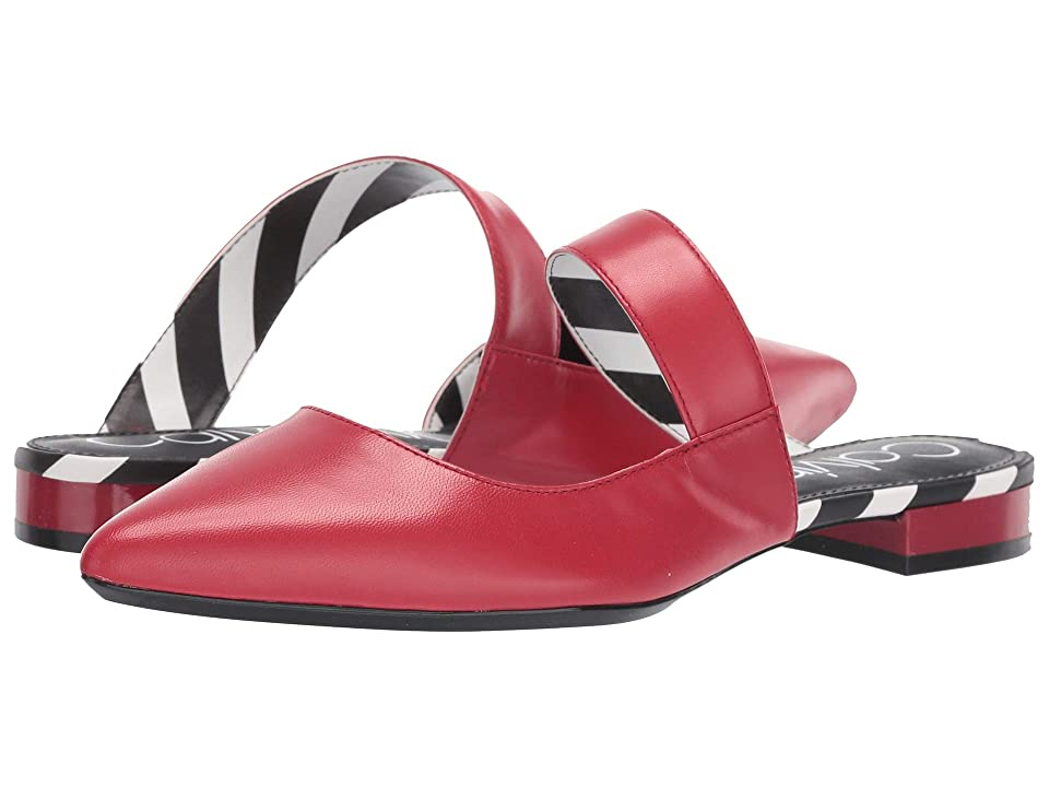 18cab328b9d Calvin Klein Arelys (Scarlet Leather Stripes) Women s Shoes