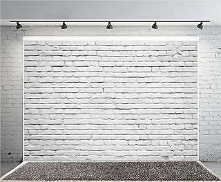 Yeele Wandhintergrund aus weißem Ziegelsteinen, Vinyl, Vintage Lackierung, Fotohintergrund, Partykabine, Banner für Neugeborene, Erwachsene, Foto  und Videoaufnahmen, Studio Requisiten