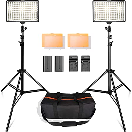 【2021最新版】SAMTIAN 160LED 撮影 ライト プロ・初心者向けのビデオライト スタジオ照明キット 動画撮影ライト 78.74インチ/2M三脚 3200/5500Kビデオ写真ライトスタンドセット Canon Nikon Sony DSLRカメラ撮影 キャリングケース付属 YouTubeビデオ撮影照明対応