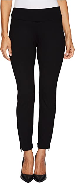 NYDJ Petite Petite Pull-On Legging Pants w/ Ankle Zip in Black