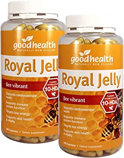 GoodHealth Royal Jelly 10-HDA 365 Capsules Targets Low Energy Supports Skin Health & Vitality Supports Cardiovascular Heal...