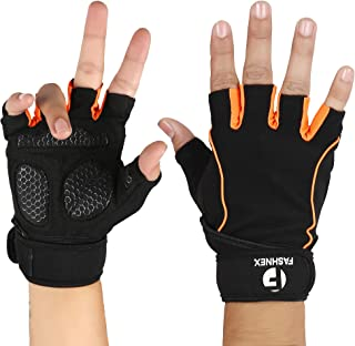FASHNEX Gym Gloves for Weightlifting, Crossfit, Fitness & Other Sports with Wrist wrap Support for Men & Women