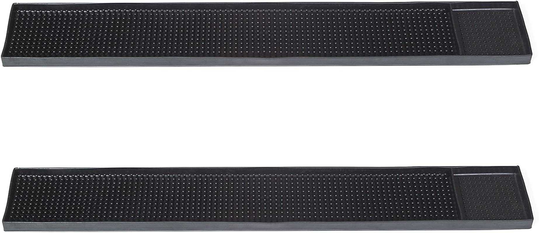 Rubber Bar Mats 2 Mats 23 5x3 25 Inch Professional Bar And Restaurant Service Mat To Protect Your Glass And Serving Area Prevents Water Marks And Spillage Easy To Rinse Black