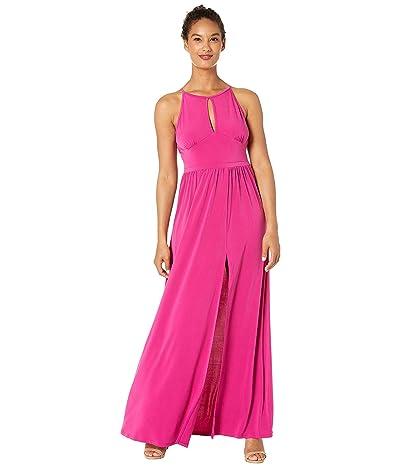 MICHAEL Michael Kors Solid Halter Maxi Dress (Deep Fuchsia) Women