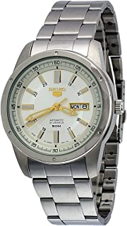 Seiko 5 SNKN11J1 Men's Japan Stainless Steel Silver Dial 50M WR Automatic Watch