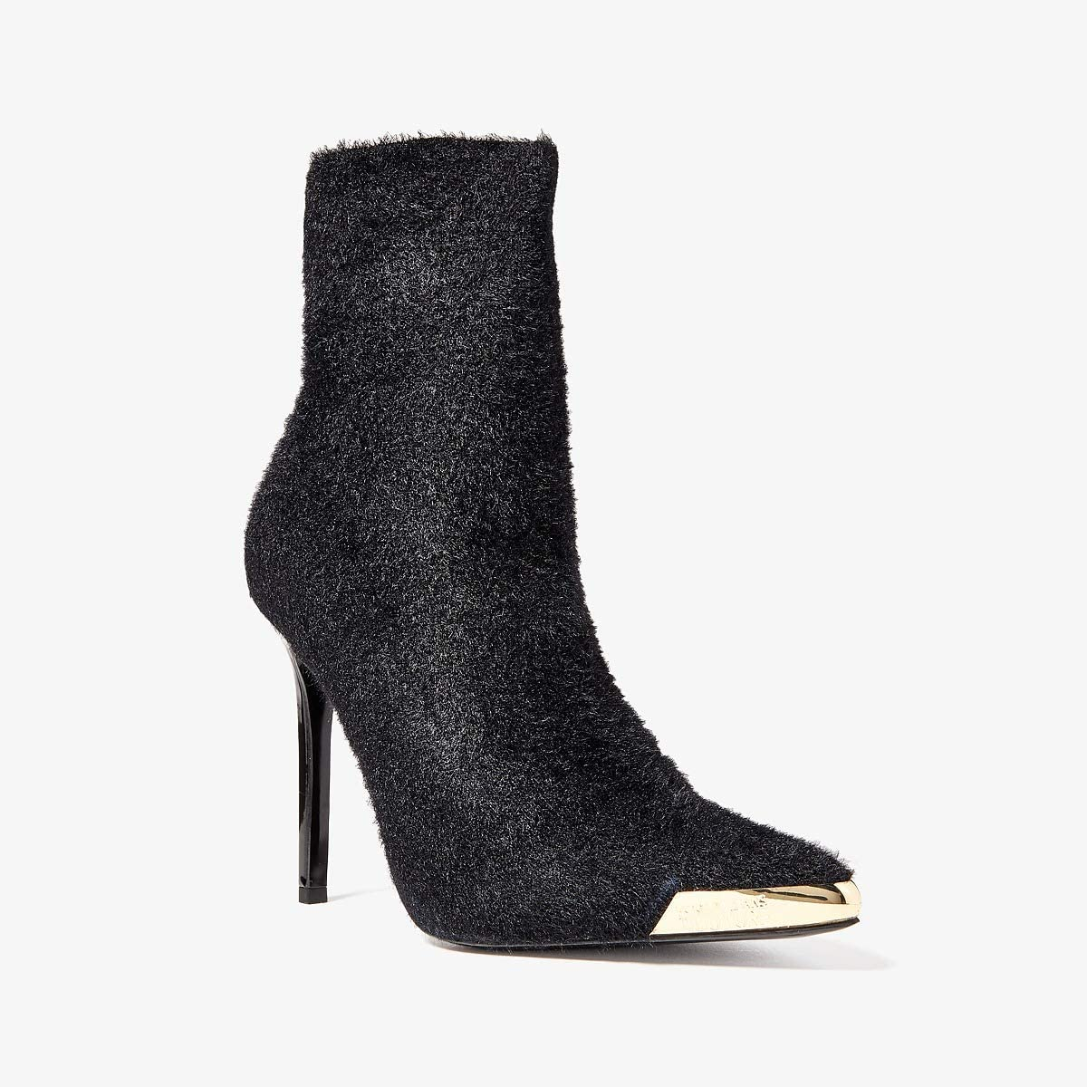 Versace Jeans Couture Textured Gold Toe Ankle Boots | Women's shoes | 2020 Newest