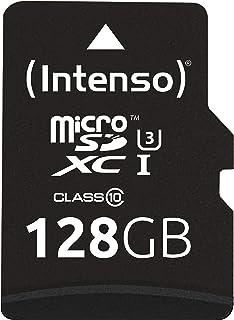 Intenso 3433491 Professional microSDHC UHS I Class 10 128GB Speicherkarte inkl. SD Adapter (bis 90Mbps) schwarz