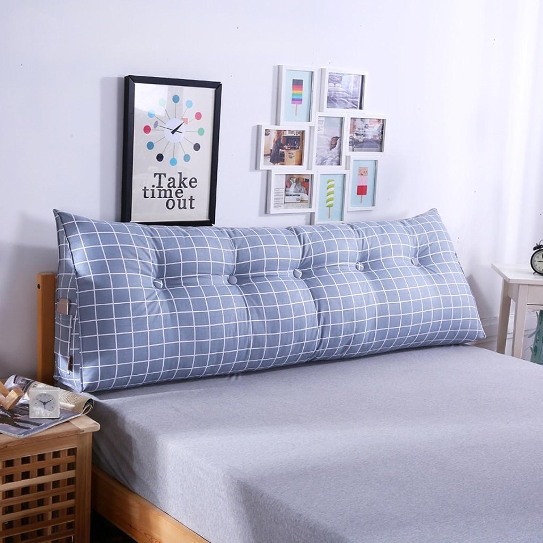 WOFULL Coussins de chevet, oreiller oreiller, grand canapé triangle, oreiller lombaire du dossier (Couleur   D, taille   120  50  20CM)
