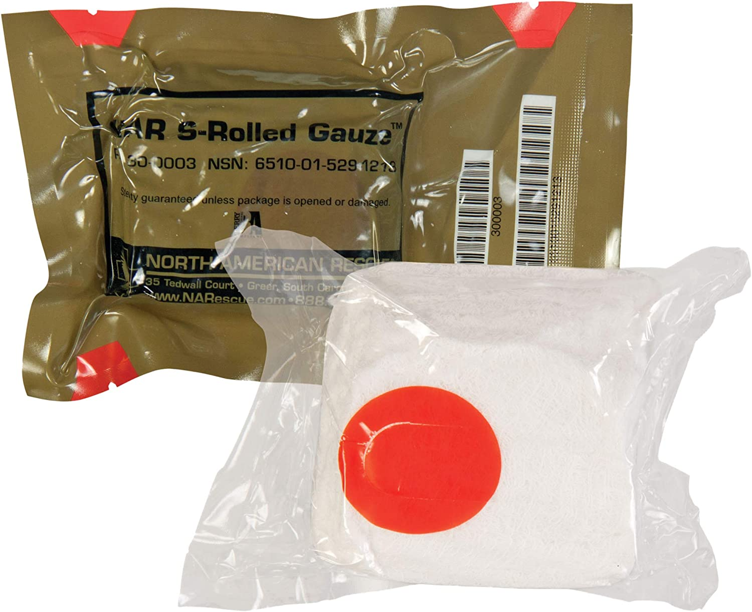 North American Rescue 30-0003 Medical S-Rolled - 4. Limited time for free shipping Gauze Max 89% OFF x 4.5