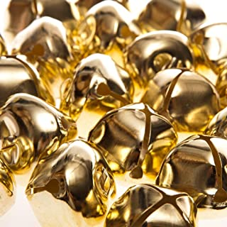 24 Gold 35mm Jumbo Jingle Bells for Crafts | Craft Bells
