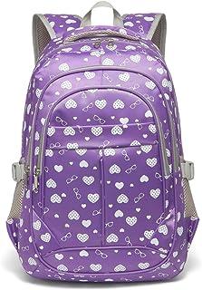 Sweethearts Girls Bookbags for Elementary School Bags Backpacks for Kids Children(Purple)