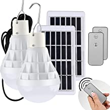 Light Bulb Solar Lights Outdoor 130LM Portable Solar Panel Powered Lamps Rechargeable LED Bulb Lights for Coops Shed Hikin...