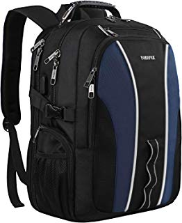 YOREPEK 17 inch Laptop Backpack, Large Travel Backpack for Women Men with Luggage Sleeve,TSA Friendly Business Backpacks with USB Charging Port, College School Bookbag Fits 17 Inch Laptops Notebooks