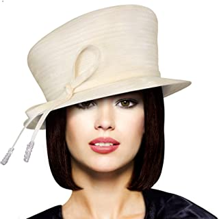 Mr. Song Millinery Small Width Brim Hat with Slant Top Crown - Q34