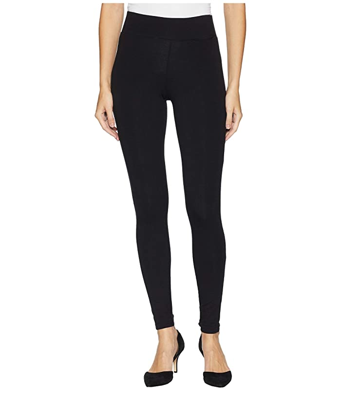 HUE Hold It Ultra Leggings with Wide Waistband and Hidden Pocket (Black) Women